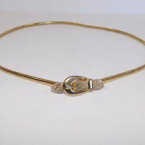 "Vintage Gold Tone Womens Delicate Belt 24"""